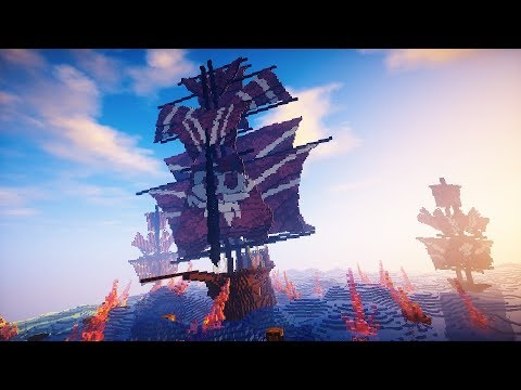 EXTREME Minecraft Pirate Ship Timelapse | Fleet of the Spirits
