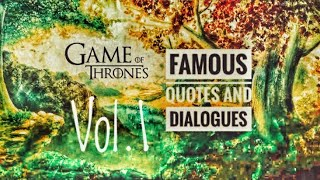 Download Game of thrones Quotes and Dialogue Vol-1 Video