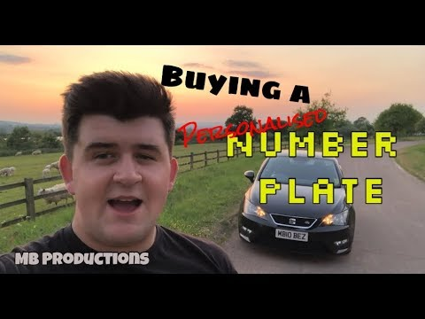 Buying a Personal Number Plate