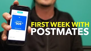 First week with Postmates (Promo Code)