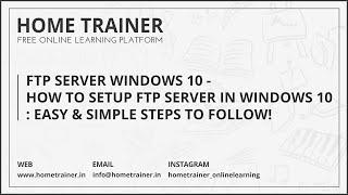 How To Setup Local FTP in Windows10 - PakVim net HD Vdieos