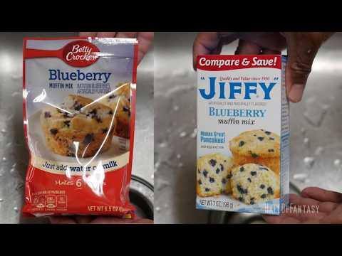 Betty Crocker Blueberry Muffin Mix vs Jiffy Blueberry Muffin Mix