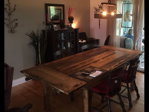 Dinning room table made from elmwood part 2 of 2