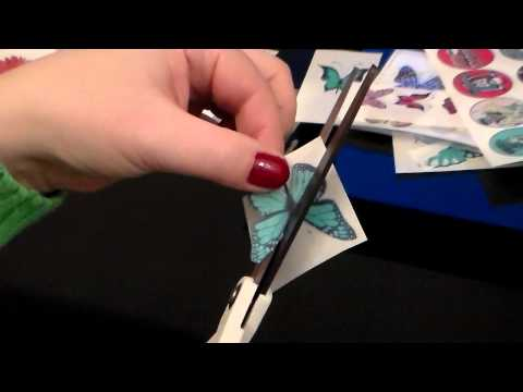 How to cut out edible rice wafer paper butterflies