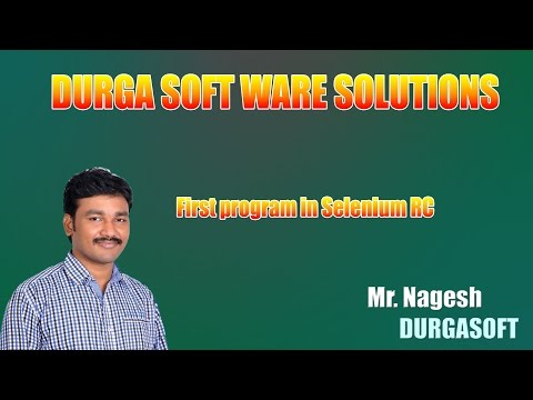 First program in Selenium RC by Nagesh