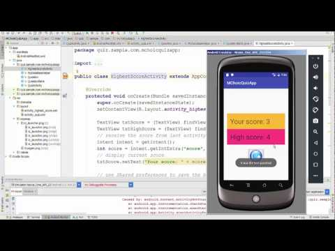 Lesson18 Android - Multiple Choice Quiz + Read data from SQLite