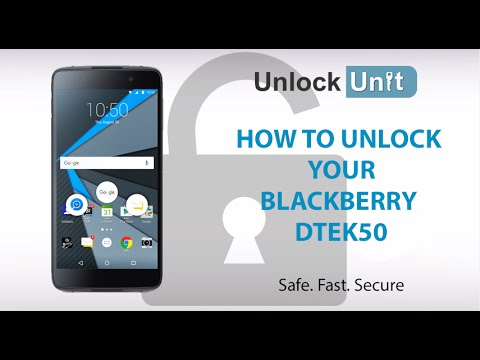 HOW TO UNLOCK BlackBerry DTEK50