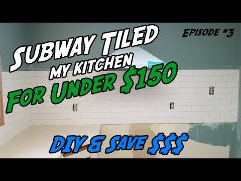 How to Install Subway Tile | DIY Kitchen Backsplash Tile | DIY Subway Tile |