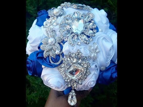 DIY How to make Brooch Bridal Bouquet Fabric Flowers No Wires Easy DIY Kit MIMI