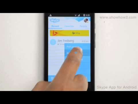 Skype Android App - How To Add A Contact Through Mobile Number