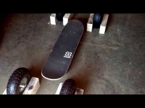Home made motorized skateboard with 10