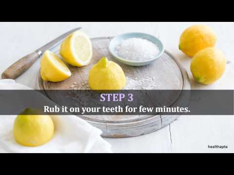 Lemon and Salt to Get Rid of White Spots on Teeth