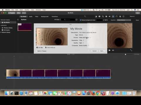 How To Save and Export Video File In iMovie 2018