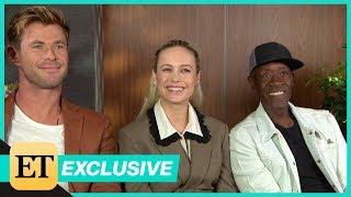 Avengers: Endgame: Chris Hemsworth, Brie Larson and Don Cheadle (FULL INTERVIEW)
