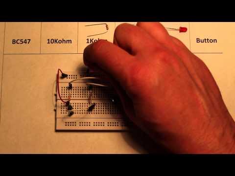 Logic OR gate made using transistors