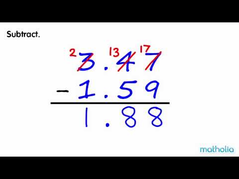 Subtraction of Decimals (With Regrouping)