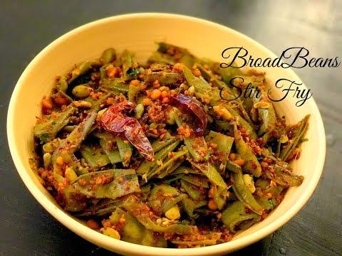Broad Beans Stir Fry | Chikkudukaya Vepudu | Easy and Quick Indian broad beans fry recipe