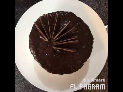 Chocolate Orange Piñata Dip Cake with Cointreau Buttercream
