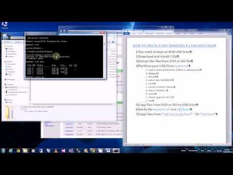 USB UEFI Boot - How to Create a Win8 UEFI USB Boot Disk