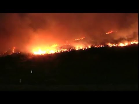 LIVE: Thomas Fire burning in Ventura County - Amanda Valdes Broadcast