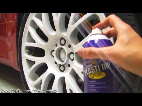 PlastiDip Spray on Wheels to Matte White!