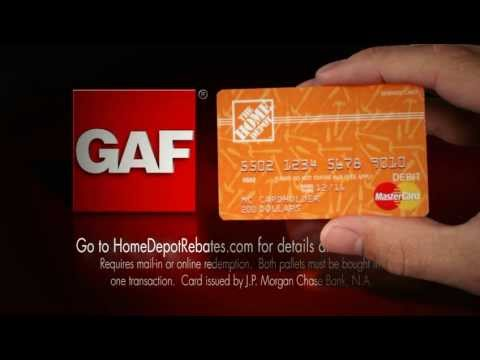 GAF $200 Prepaid  MasterCard for The Home Depot