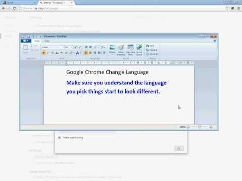 Google Chrome Change The Language Settings (Simple)