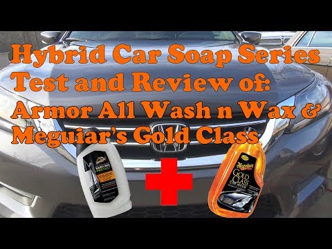 Hybrid soap mixture with Armor All Wash n Wax and Meguiars Gold Class