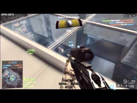 PS3 Battlefield 4 Beta - Sniper / Recon Online Multiplayer Gameplay - HD 720p