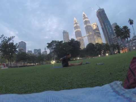 Part 5 - SHOCKING! Christian American does Hindu Yoga in Muslim Malaysia during Evening Prayers