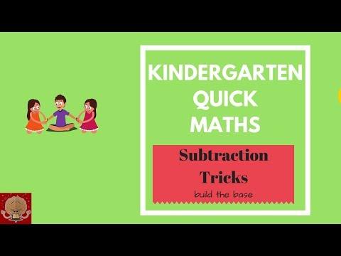 Kindergarten Maths tricks for kids  Subtraction tricks for small kids  Fast Maths for kids