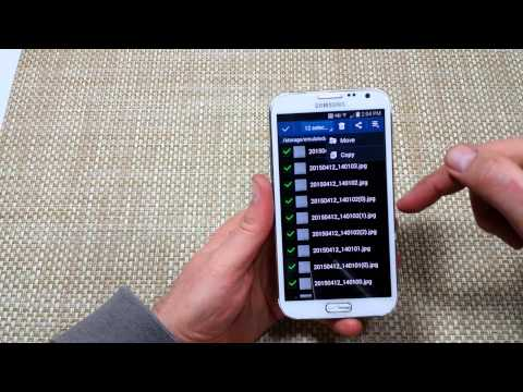 Samsung Galaxy Note 2 How to Copy Move transfer files photos folders to SD Memory Card