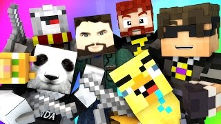 Minecraft Mini-Game : DO NOT LAUGH! (PANDA WITH A GUN AND THE DERP BIRD!) w/ Facecam