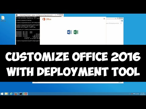 Customize Office 2016 installation with deployment tool