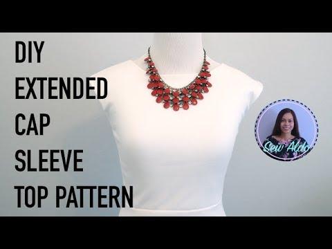 DIY CAP SLEEVE TOP PATTERN AND CUTTING | HALF CIRCLE DRESS | SEWING FOR BEGINNERS
