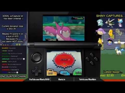 Shiny Corphish catch - chain fishing - Pokemon ORAS - Twitch Hilight