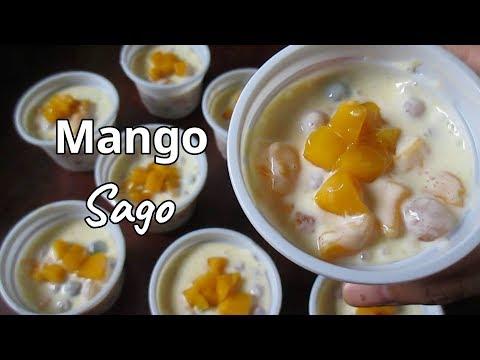 Mango Tapioca | How to make Mango Sago | Mango Sago Dessert Recipe