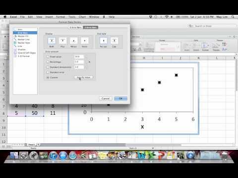 Custom Error Bars in MS Excel for Mac 2011