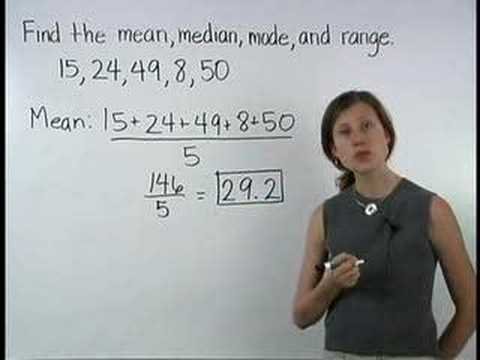 Central Tendency - Mean Median Mode Range - MathHelp.com