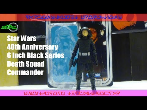 Star Wars 40th Anniversary 6 Inch Black Series Death Squad Commander Review