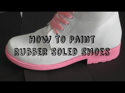 How to Paint Rubber Soled Shoes