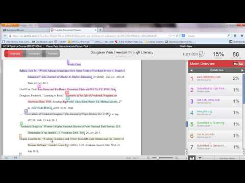 Turnitin: Student Guide to Checking for Plagiarism and GradeMark