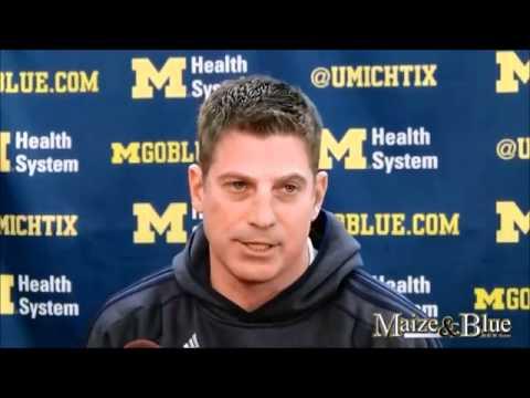 Doug Nussmeier talks Spring Practice -The University of Michigan Wolverines Football 2014 Team 135