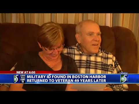 Navy veteran reunited with military ID he lost decades ago in Boston