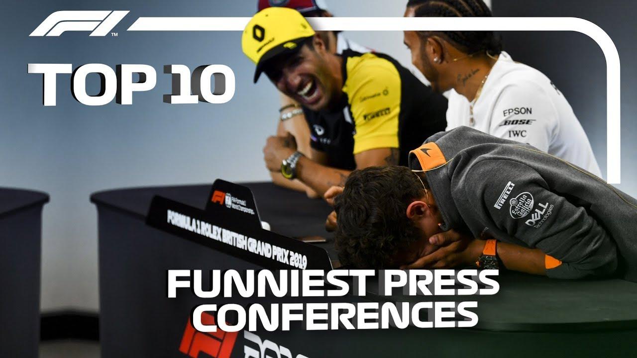 Top 10 Funniest F1 Press Conferences!