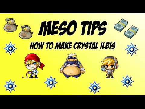 Maplestory - Meso Tips - How to make Crystal Ilbis