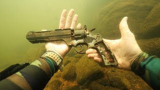 Found Gun Underwater in River While Scuba Diving! (WRBL News Interview)