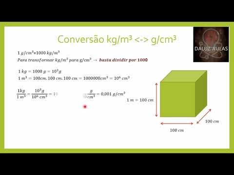 Conversão kg/m³ para cm/³