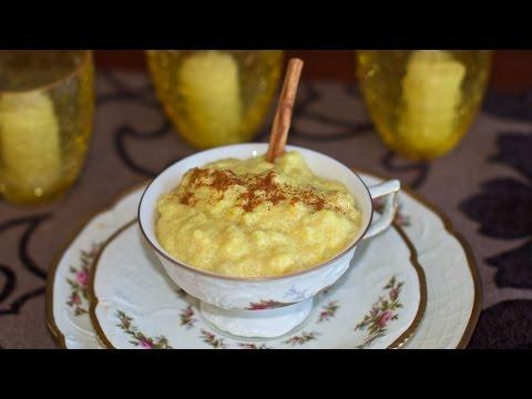 Creamed Banana Rice & Polenta Porridge - Vegan Breakfast or Dessert Idea!