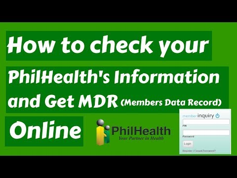 How to check your PhilHealth's Information and get MDR Online